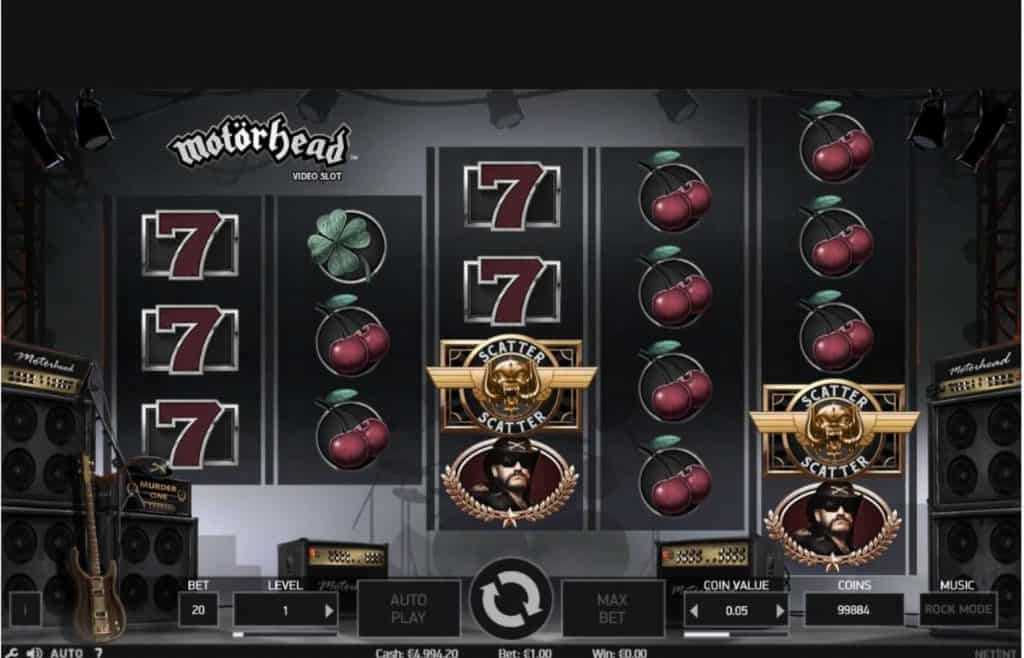 motorhead video slot game